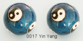 Therapy ball 35mm - Yin Yang #0017 Blue - 2 ball set