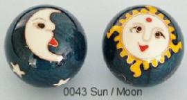 Therapy ball 35mm - Sun Moon #0043 - 2 ball set