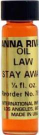 LAW STAY AWAY Anna Riva Oil qtr oz