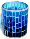 Blue Mosaic Votive Candle Holder