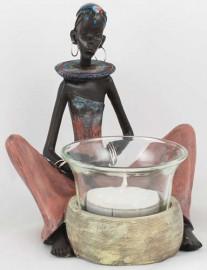 Tribal Circle Lady Tealight Holder
