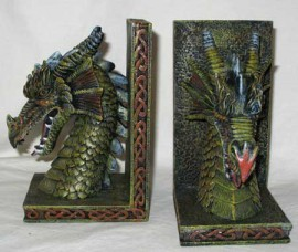 Pentagram Dragon Bookends