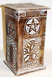 Pentagram and Tree Incense Chest