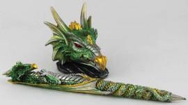 Green Dragon Pen & Holder