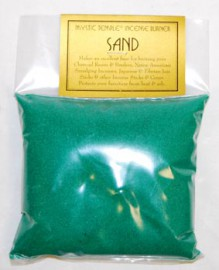 1lb Green Incense Burner Sand