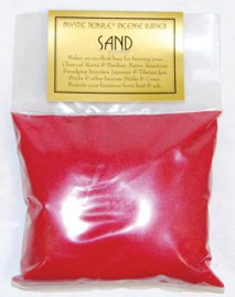 1lb Red Incense Burner Sand