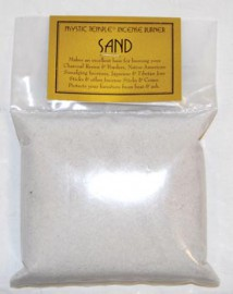 1lb White Incense Burner Sand
