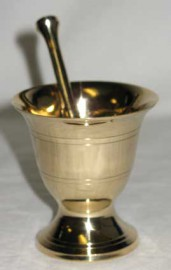 Mortar/Pestle Brass small