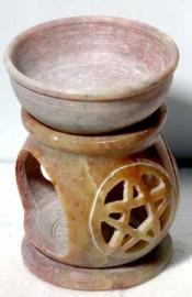 Soapstone Pentacle Oil Diffuser