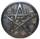 Metal Pentagram and Leaf Altar Paten