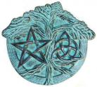 Pentagram, Triquetra, and Tree of Life Altar Paten