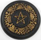 Wooden Pentagram Altar Tile