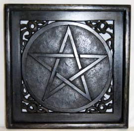 Large Altar Plate or Wall Hanging Pentagram