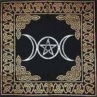 Triple Goddess With Pentagram Altar/Tarot Cloth