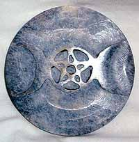 Soapstone Triple Moon Altar Tile
