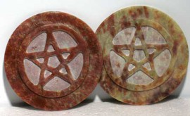 Soapstone Pentagram Altar Tile