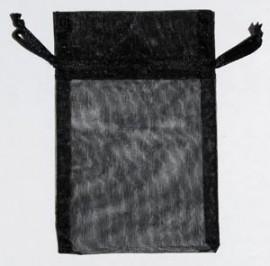 Small Black Organza Pouch