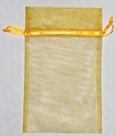 Large Gold Organza Pouch