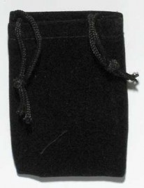 Black Velveteen Bag   (2