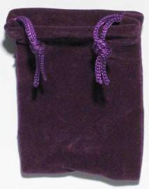 Purple Velveteen Bag  (2