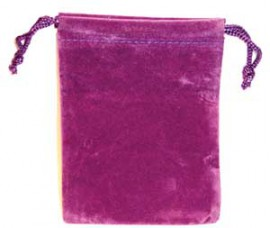 Purple Velveteen Bag  (3