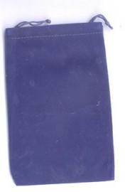 Blue Velveteen Bag  (4