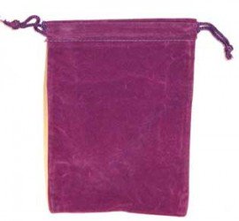 Purple Velveteen Bag  (4 x 5 1/2