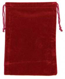 Burgandy Velveteen Bag  (5