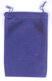 Blue Velveteen Bag  (5