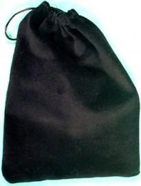 Large Black Velveteen Bag  (5