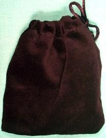 Small Black Velveteen Bag  (3