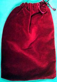 Large Cranberry Velveteen Bag  (5
