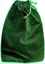 Large Green Velveteen Bag  (5