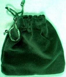 Small Green Velveteen Bag  (3