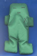 Green Voodoo Doll  (5