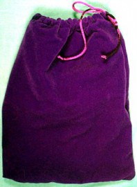 Large Purple Velveteen Bag  (5