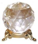 60mm faceted crystal ball