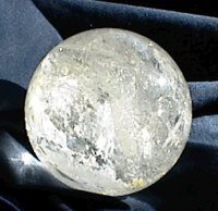 2in round Natural Quartz Crystal Ball